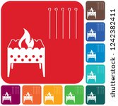 camping brazier icon. vector... | Shutterstock .eps vector #1242382411