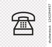 outline telephone icon. vector...