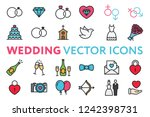 wedding  marriage  engagement ... | Shutterstock .eps vector #1242398731