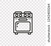 outline stove icon. vector... | Shutterstock .eps vector #1242403264