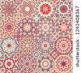 set of vector seamless arabic...   Shutterstock .eps vector #1242408367