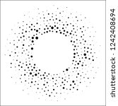 halftone dotted background... | Shutterstock . vector #1242408694