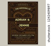 vintage wedding invitation card.... | Shutterstock .eps vector #1242409897