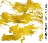 artistic brush smears. golden... | Shutterstock . vector #1242416137