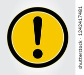 exclamation mark sign vector...