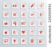 fitness icon set  | Shutterstock .eps vector #1242424531