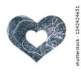 cracked blue ice style heart... | Shutterstock . vector #1242424651