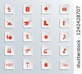 garden icons set. | Shutterstock .eps vector #1242428707