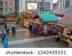 leeds millennium square in west ... | Shutterstock . vector #1242435151