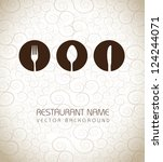 restaurant icons over vintage... | Shutterstock .eps vector #124244071