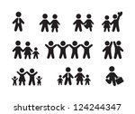 silhouette people icons over... | Shutterstock .eps vector #124244347