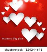 valentines day bright... | Shutterstock .eps vector #124244641