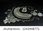 beautiful oriental silver... | Shutterstock . vector #1242448771