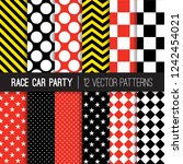 race car party themed vector... | Shutterstock .eps vector #1242454021
