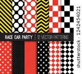 race car party themed vector... | Shutterstock .eps vector #1242454021