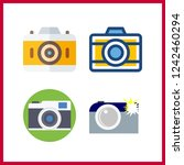 4 photographer icon. vector... | Shutterstock .eps vector #1242460294