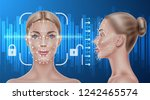 face recognition concept.... | Shutterstock .eps vector #1242465574