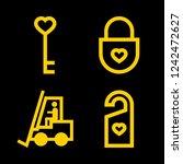 iconscount  lock vector set.... | Shutterstock .eps vector #1242472627