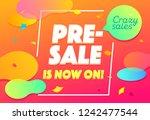 pre sale banner design.... | Shutterstock .eps vector #1242477544