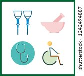4 therapy icon. vector...   Shutterstock .eps vector #1242494887