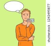 man talking on smartphone....   Shutterstock .eps vector #1242495877
