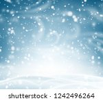 blue shiny poster with winter... | Shutterstock .eps vector #1242496264