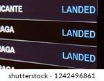 scoreboard arrivals at the... | Shutterstock . vector #1242496861