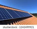 Solar Panels Modules On Roof