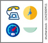 4 dial icon. vector... | Shutterstock .eps vector #1242500911