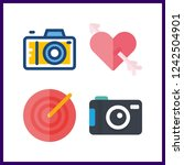 4 aiming icon. vector... | Shutterstock .eps vector #1242504901