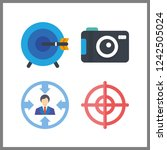 4 aiming icon. vector... | Shutterstock .eps vector #1242505024