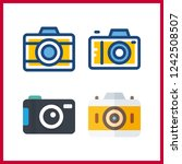 4 photographer icon. vector... | Shutterstock .eps vector #1242508507
