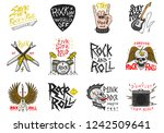 set of rock and roll music... | Shutterstock .eps vector #1242509641