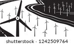 wind turbines on land and at... | Shutterstock .eps vector #1242509764