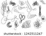 big set of hand drawn scribble... | Shutterstock .eps vector #1242511267