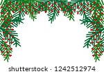 background with branches... | Shutterstock .eps vector #1242512974
