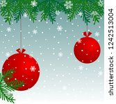 christmas background with red... | Shutterstock .eps vector #1242513004