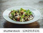 baked beetroot salad with goat... | Shutterstock . vector #1242515131
