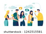 vector colorful illustration of ... | Shutterstock .eps vector #1242515581