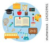 vector illustration of... | Shutterstock .eps vector #1242525901
