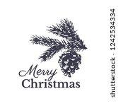 merry christmas vintage gift... | Shutterstock .eps vector #1242534334