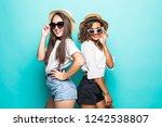 two beautiful young girl...   Shutterstock . vector #1242538807