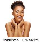 sensual young girl enjoying her ... | Shutterstock . vector #1242539494