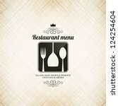 restaurant menu design | Shutterstock .eps vector #124254604