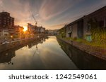 otaru canal was a central part... | Shutterstock . vector #1242549061