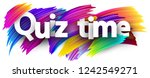 quiz time poster. colorful... | Shutterstock .eps vector #1242549271