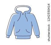 hoodie isolated vector | Shutterstock .eps vector #1242550414