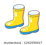 wellies gum boots isolated | Shutterstock .eps vector #1242550417