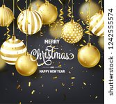 christmas background with tree... | Shutterstock .eps vector #1242555574