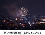 scenic of giant firework for... | Shutterstock . vector #1242561481